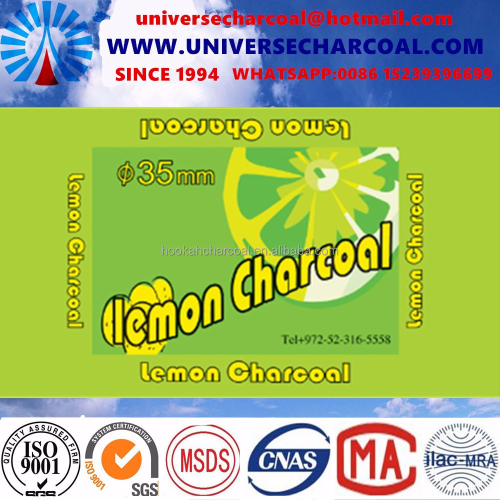 Hookah Application Grape charcoal and Lump Shape Lemon and orange charcoal