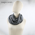 35% cotton 65% polyester foil print snood women infinity scarf