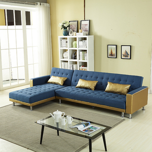 2018 Latest fabric corner sofa / sofa bed design living room furniture luxury sectional sleeper sofa