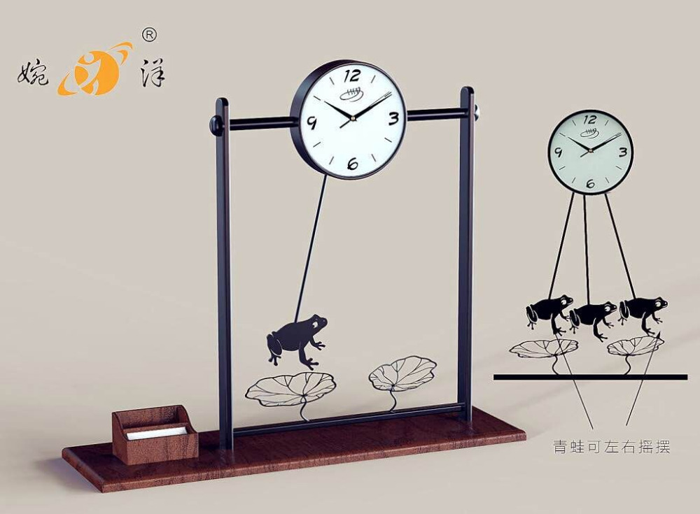 New design wrought iron decorative metal bird wall clock for sale