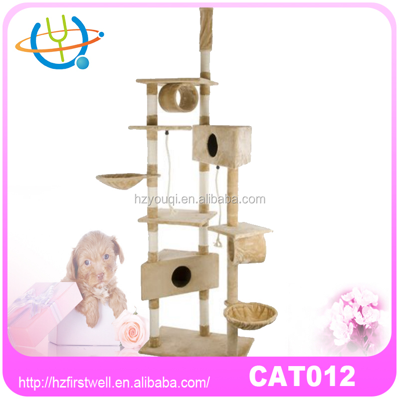 high quality light weight lurxury plush kitty paradise cat tree