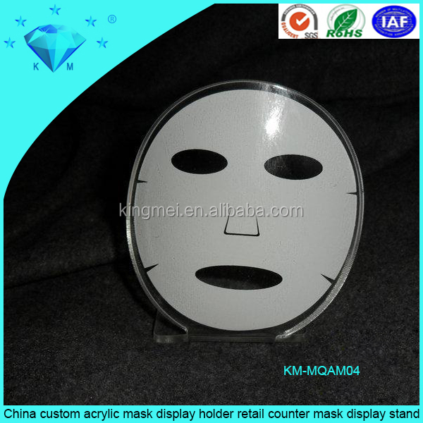 China custom acrylic mask display holder <strong>retail</strong> counter mask display stand