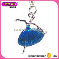 Ballet dance girl charm promotional jewelry charm wholesale