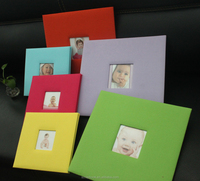 Latest cloth wrap wedding 12x12 photo albums for scrapbooking