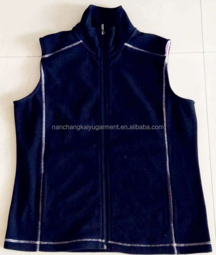 100% polyester High Quality Unisex Micro Polar Fleece Vests /tank top for women