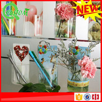 Recyclable used pen holder hanging mini box silicone adhesive planter flower pot