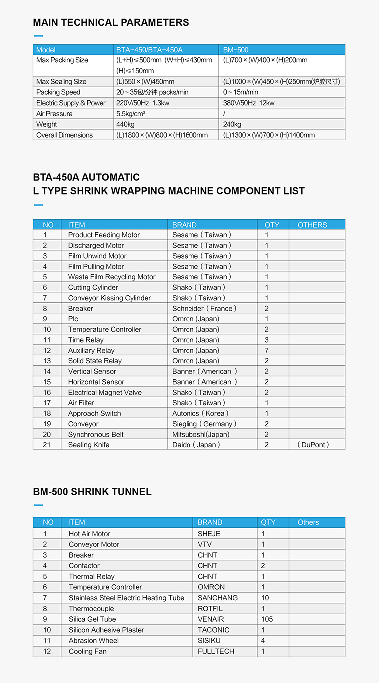 L barra de Selagem térmica de Calor Automático Retráctil Máquina de Embalagem embalagem