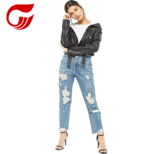 OEM ODM Wholesale slim fashion Jeans for women