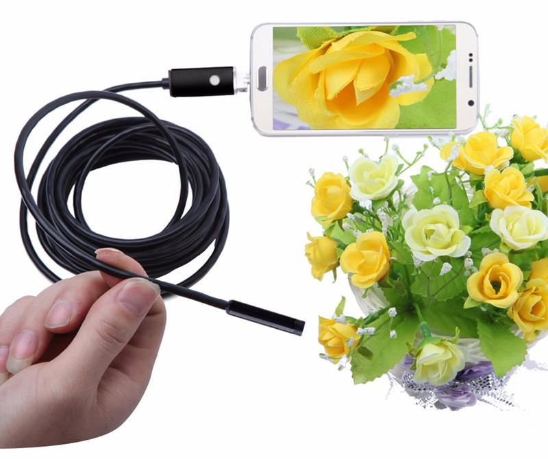 Android&PC Endoscope Camera HD 8mm Lens 2IN1 3.5M Android Endoscope Waterproof Inspection Borescope Tube Camera