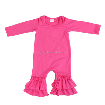 19ce90612e52 Wholesale Boutique Infant Toddler Clothes Icing Romper Newborn Baby Ruffled  Leg Rompers
