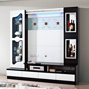 Lcd tv showcase designs tv unit design for hall buy tv for Lcd wall unit designs for hall