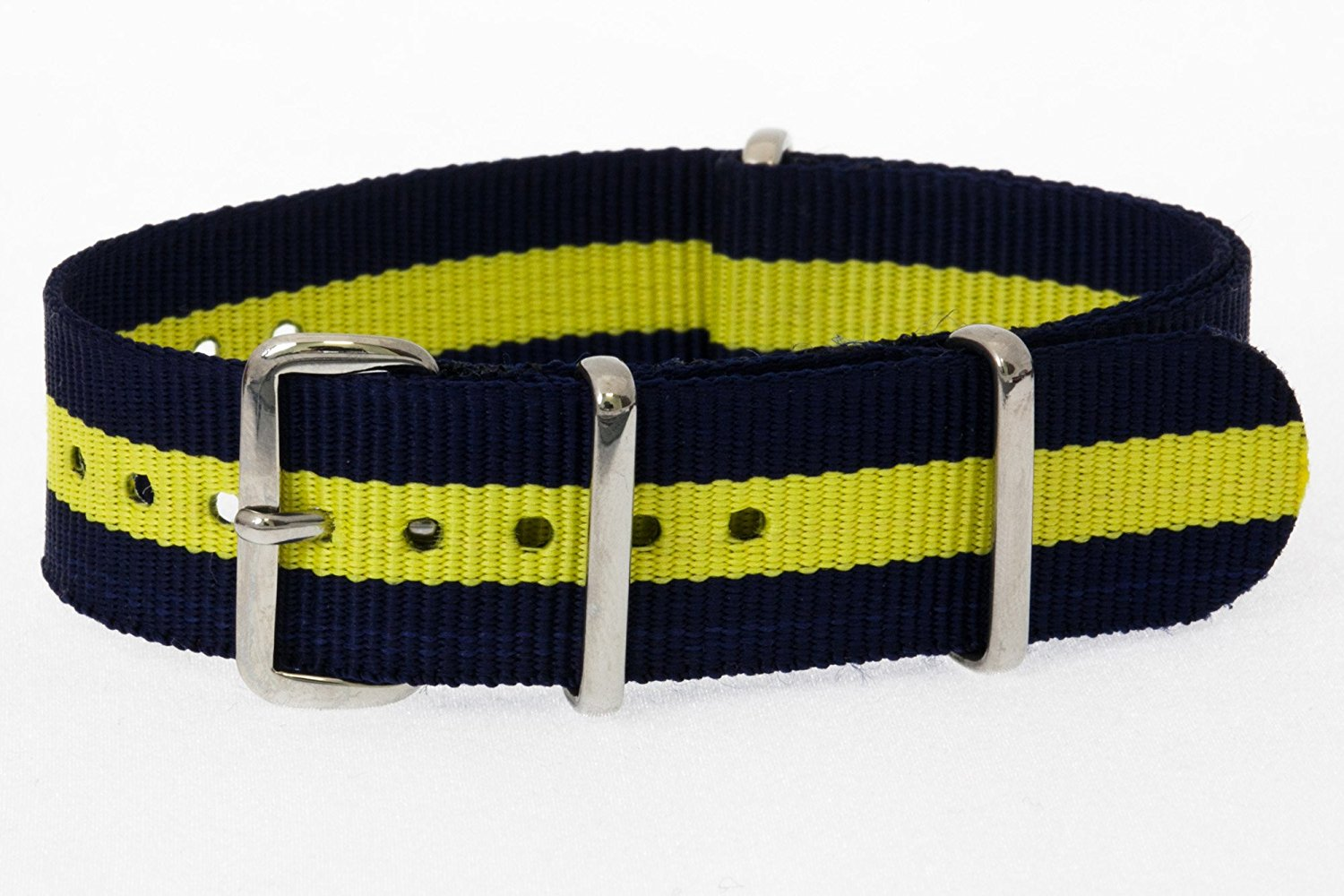 c6eed8a9743 20mm   Blue Yellow   James Bond Nylon Nato Watch Band Military Strap G10