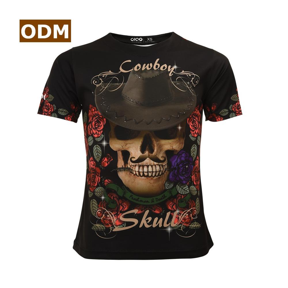 Men Clothes 2018 Cool Cowboy Hat Skull Funny 3d Mens T Shirts Fashion Printing Round Neck Short Sleeve T Shirt Skillful Manufacture T-shirts