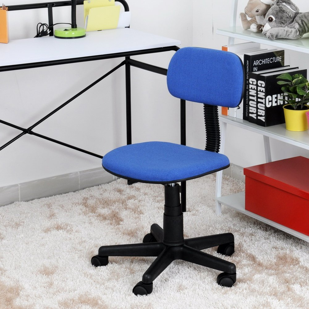 Vecelo Home/ Office Furniture Ergonomically Swivel Chair Office /Task/ Computer Desk Chair with Fabric Pads (Blue)