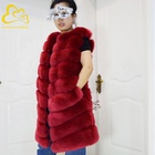 FANPUGUIZHEN Faux Fox Fur Ladies Vest Tops High Fashion Womens Clothing