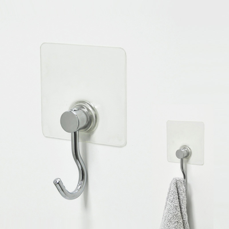 Adhesive Single Kitchen Towel Metal Wire Hook