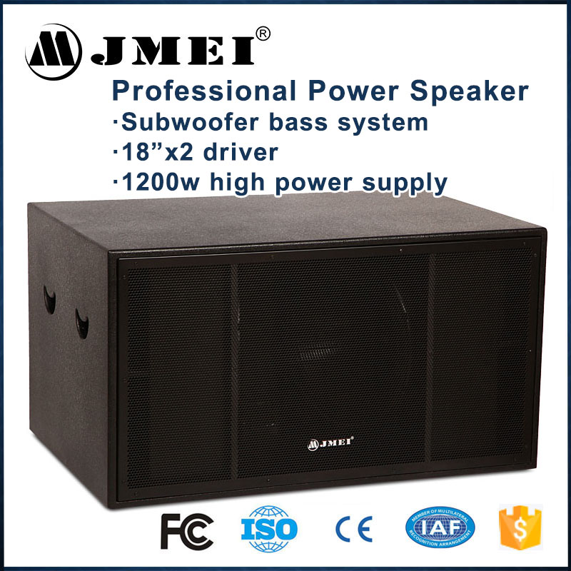 The best live stage dual 18'' concert subwoofers 1200w powerful sub bass subwoofer concert