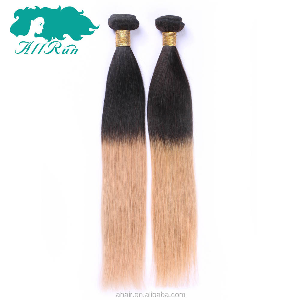 brazilian human braiding hair two tone color remy human hair 1b 27 straight  ombre color hair 0298528bf