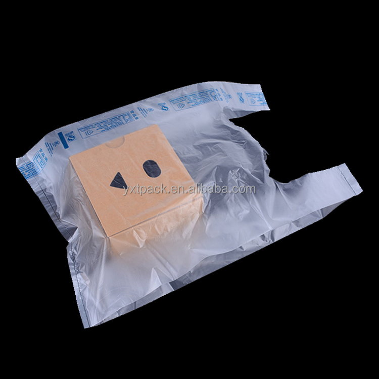 factory wholesale price pe plastic carrier handle vest tshirt bags on roll