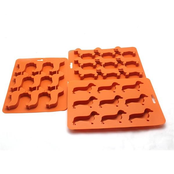 2016 new products eco-friendly BPA free dog shaped silicone ice mold,silicone ice cube tray,ice maker