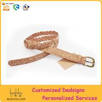 Boshiho Unique Natural Cork Fabric Belts Innovative Birthday Gifts