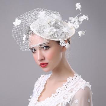 992c63faf58 Wholesale Hair Accessories Flowers Bridal Lace Wedding Hat Headdress ...