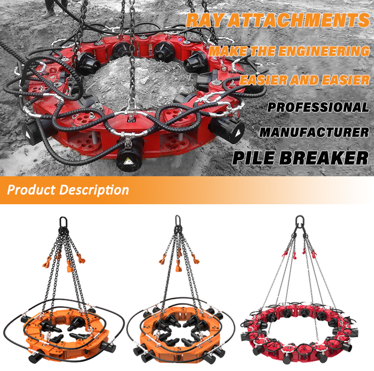 Square Round Concrete Pile Head Cutter Pile Breaker For Construction Machine