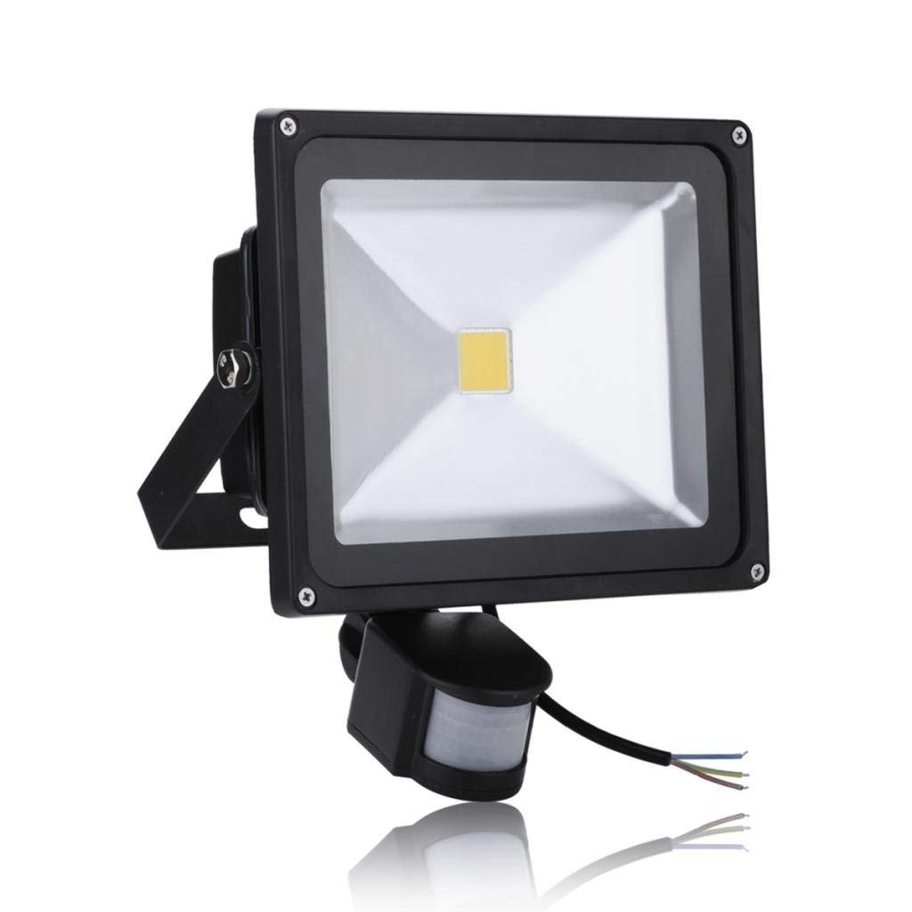 30W LED Motion Sensor Flood Lights, Waterproof IP65, Warm White(2800-3000K), Super Bright PIR Security Lights, 95-265V