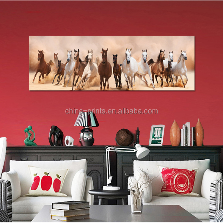 Modern Animals High Quality Running Horses Painting On Canvas For ...