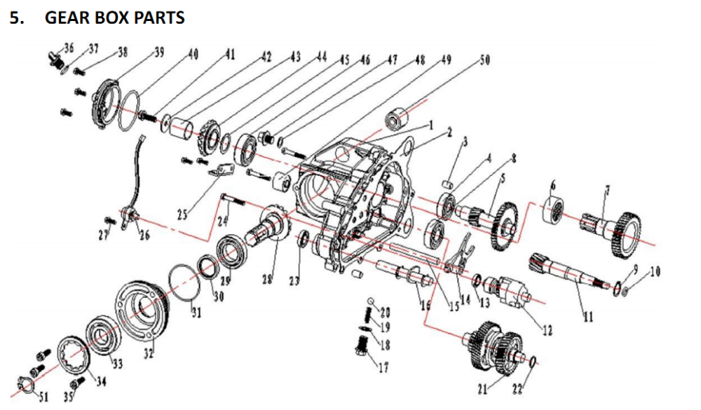 gy6 engine exploded diagram