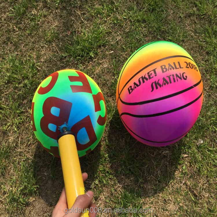 Pvc 8.5 inch neon sports toy <strong>ball</strong> for kids outdoor fun