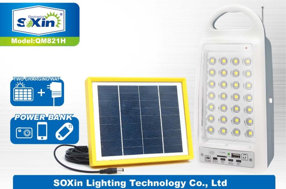 Iraq Solar Power Bank Fm Radio Led Emergency Light(qm-821h)