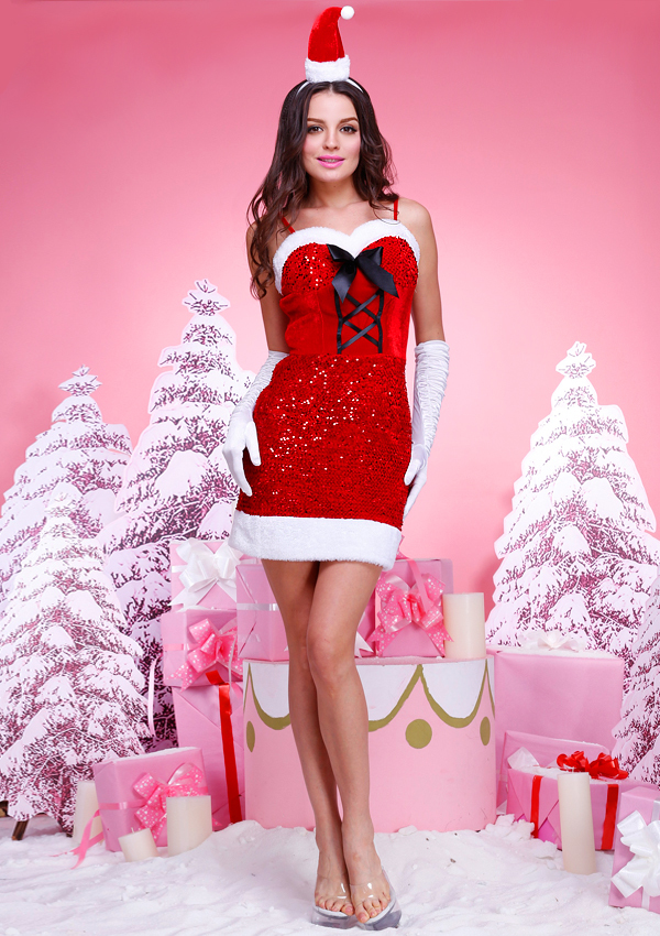 Bling Bling Navidad Santa Claus Disfraces Mujeres - Buy Traje De ...