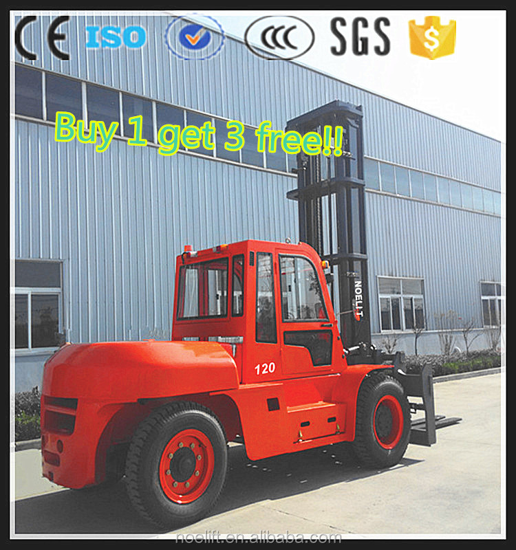 used trucks for sale CE &ISO 10t 12t 50t diesel forklift heavy duty equipment with Japan engine and side shift*cabin*solid tire