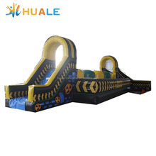 Huale 15x6.3x3.5 เมตรขนาดใหญ่ ballers ultimate inflatable เกม leap n bounds inflatable wipeout