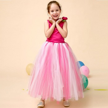 Cute Red Sleeveless Long Two Piece Red Indian Party Dresses For Kids ...