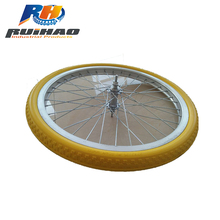 PU Foam Tire For Bicycle With Aluminum Rim