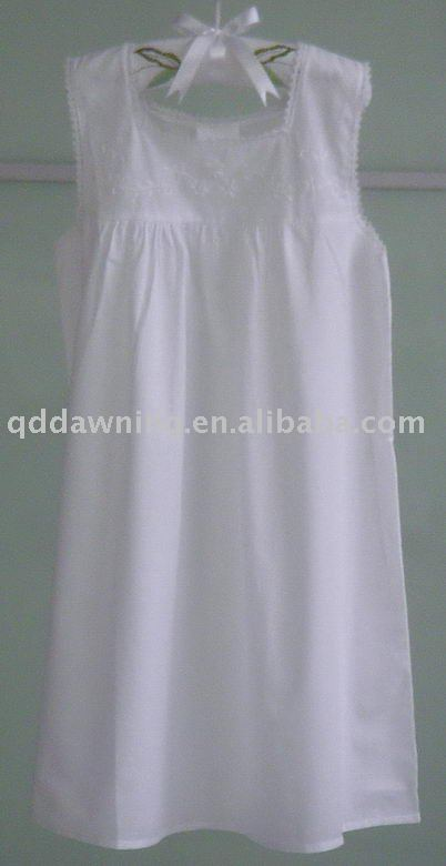 For Overseas Market Childrens\' White Cotton Nightgown - Buy ...