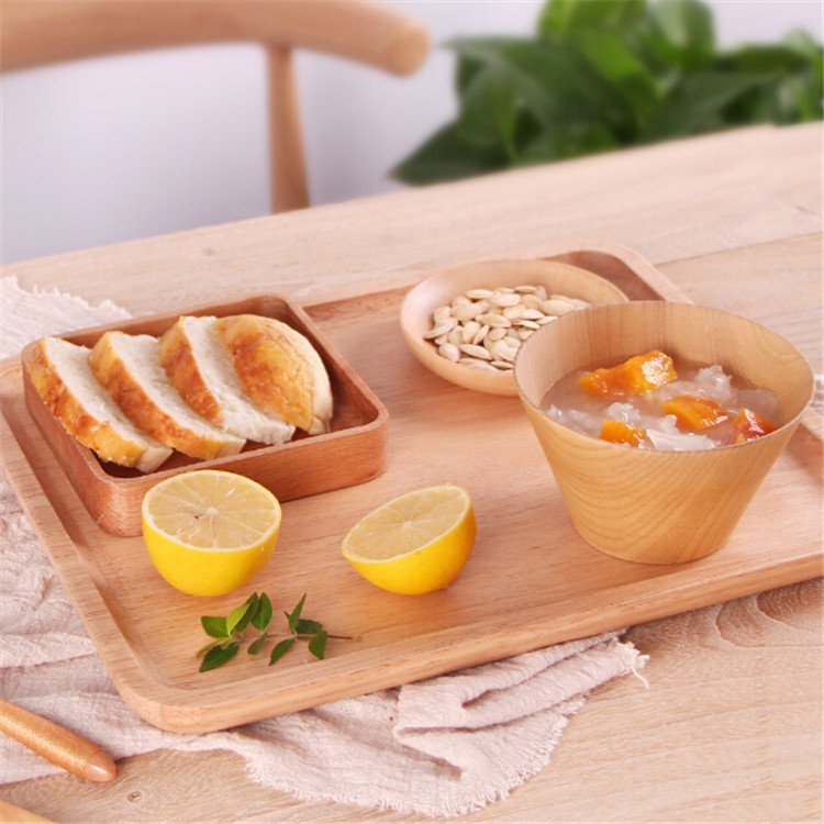 wholesale high quality home nature disposable bamboo plate