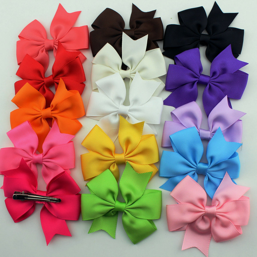 30pcs/pack baby girl hair clips bow Boutique hair pin