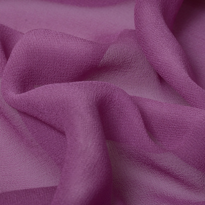 Purpleheavy11color ensemble rouleau naturel organique plaine soie 100% pur georgette en mousseline de soie tissu