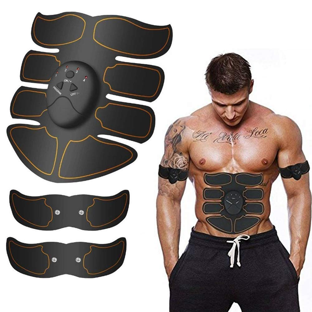 Scarecrew Abs Stimulator Ultimate Muscle Trainer Abs Stimulator Ab Stimulator for Men Women Abdominal Work Out Ads Power Fitness Abs Fitness Equipment Abdomen/Arm/Leg Training Slimming Body Pad