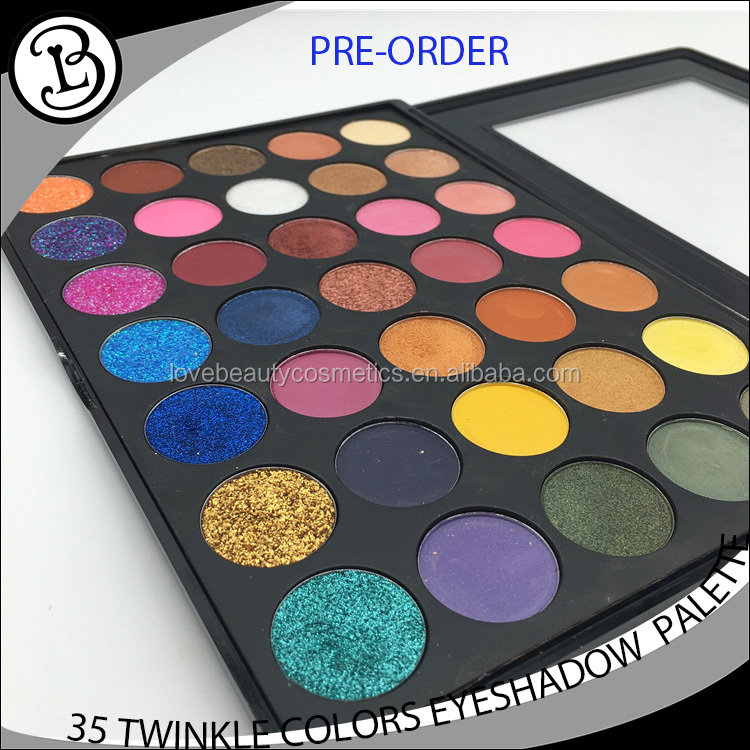 Glitter pigment eyeshadow 35 color Eye Shadow Makeup Kit