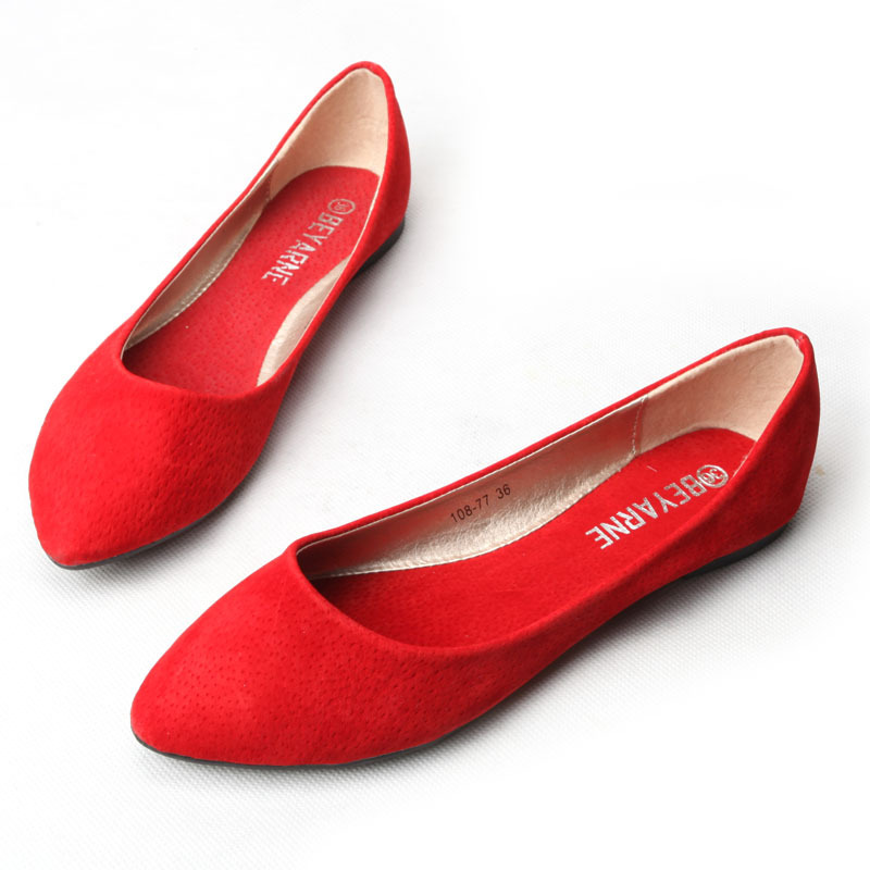 bd51d02e66b Buy 2015 leather flat shoes women wedding shoes flat shoes large size red  soft bottom comfortable female flat shoes in Cheap Price on m.alibaba.com