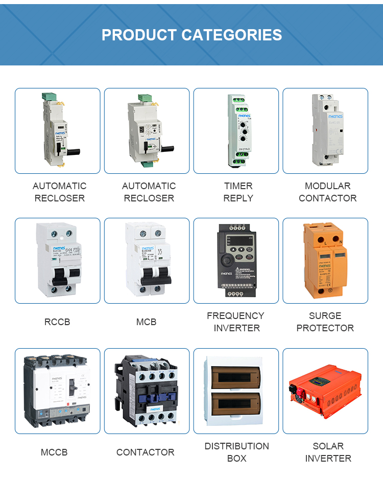 RHENES Top venda montagem em Trilho DIN 2 25A 32A 40A 4 p mini contator modular