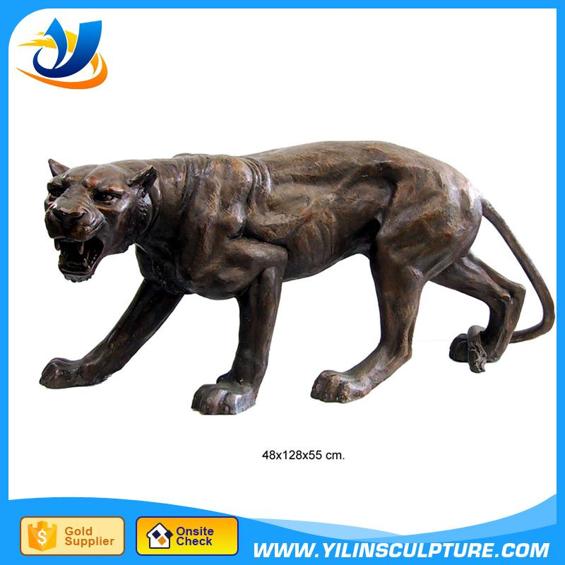 Large Outdoor decoration bronze tiger sculpture bronze big cat sculpture bronze Cheetor sculpture with low price