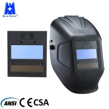 Blue Eagle CE EN175 Solar Powered Auto darkening PP welding helmet mask