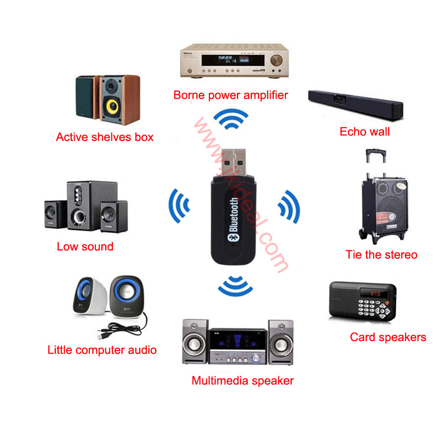 bt 03n usb blue tooth audio dongle adapter hub receiver. Black Bedroom Furniture Sets. Home Design Ideas