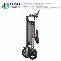 2016 HTOMT Portable Foldable city 3 wheels Electric Scooter small size hoverboard with Seat chair