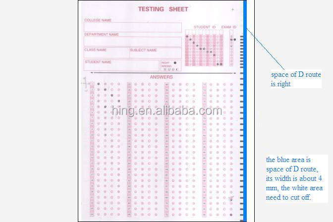 Omr Answer Sheet / Exam Paper /omr Paper For The School Exam - Buy Optical  Mark Reader Answer Paper,Omr Answer Sheet,Exam Paper Product on Alibaba com